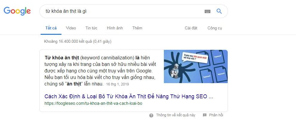 Vị trí top 0 trên google